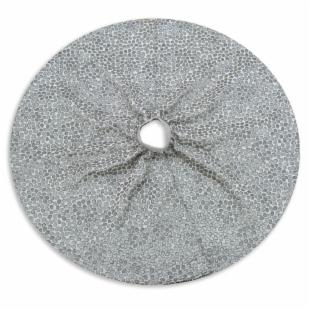 Chooty and Co. Silver Mosaic Petal Lined Tree Skirt