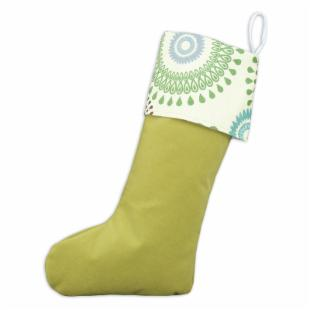 Chooty &amp; Co. Kiwi Trimmed Christmas Stocking