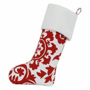 Brite Ideas Living Suzani Red and White Christmas Stocking with Optional Personalization