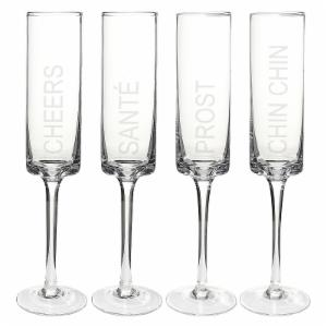Cathys Concepts Cheers! Contemporary Flutes - Set of 4
