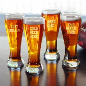 Cathys Concepts Cold Beer Here Pilsners - Set of 4