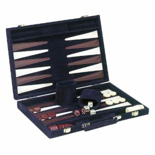 Blue Microfiber Backgammon