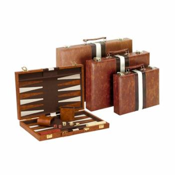  Brown &amp; White Backgammon Set