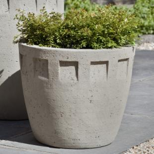 Campania International Austin Short Cast Stone Planter