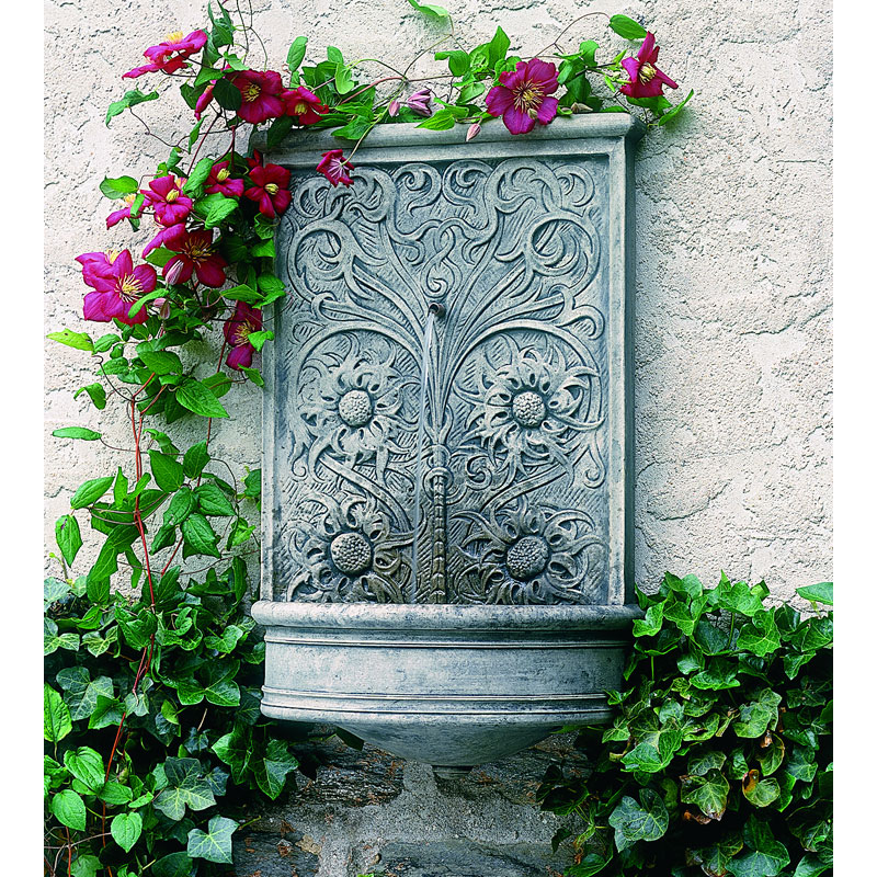 Garden Feature Wall: Campania International Sussex Wall Outdoor Fountain