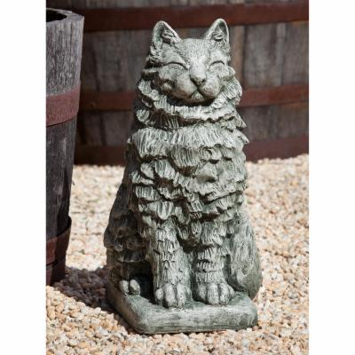 Campania International Cheswick The Cat Cast Stone Garden Statue
