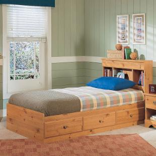 Mountain Pine Mates Bookcase Captains Bed