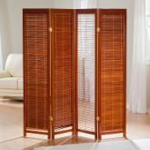  Tranquility Wooden Shutter Screen Room Divider in Honey