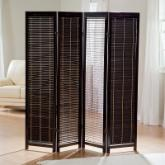  Tranquility Wooden Shutter Screen Room Divider in Black