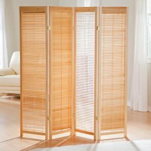 Tranquility Wooden Shutter Screen Room Divider in Natural
