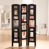  Memories Photo Frame Room Divider - Black 3 Panel