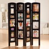  Memories Photo Frame Room Divider - Black 4 Panel