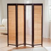  Tranquility Wooden Shutter Screen Room Divider in Espresso and Natural
