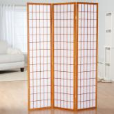  Simora Honey Shoji 3 Panel Room Divider