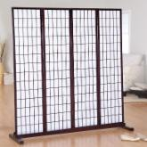  Jakun 4 Panel Shoji Room Divider with Optional Stand