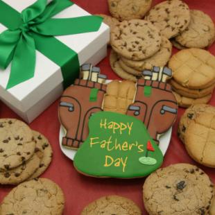 Corso's Cookies Happy Fathers Day Golfers Paradise Cookie Gift Box