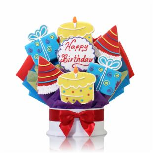 Corso&#39;s Cookies Happy Birthday Surprise Cookie Bouquet