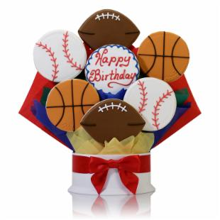Corso's Cookies Happy Birthday Sports Cookie Bouquet
