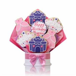 Corso&#39;s Cookies Happy Birthday Princess Cookie Bouquet