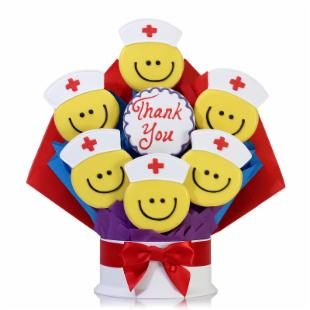 Corso's Cookies Nurse Smiles Cookie Bouquet