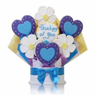 Corso&#39;s Cookies Hearts and Flowers Cookie Bouquet