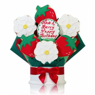 Corso&#39;s Cookies Have a Berry Happy Birthday Cookie Bouquet