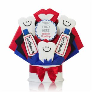Corso's Cookies Dentist Corporate Logo Cookie Bouquet