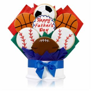 Father's Day Sports Fan Cookie Bouquet