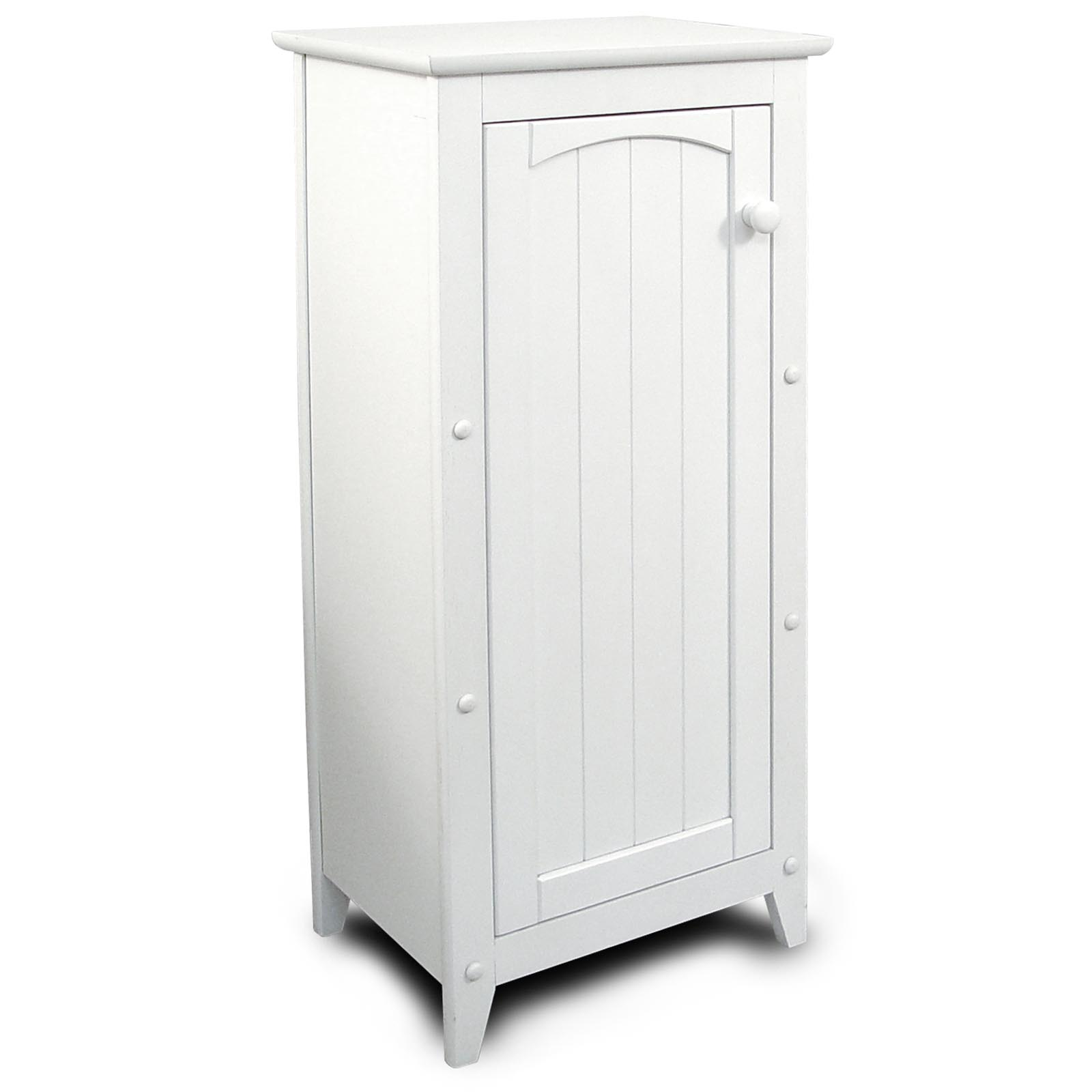 Catskill white all purpose kitchen storage cabinet for Kitchen cabinets storage