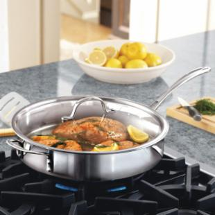 Calphalon Tri-Ply Stainless Steel 5 qt. Saute Pan with Lid