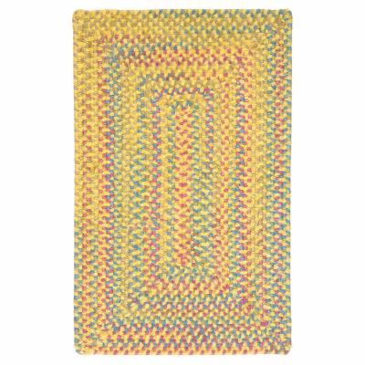 Colonial Mills Berkeley Braided Rug - Banana, 3 x 3 ft. Square by Colonial Mills