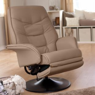 Coaster Leatherette Swivel Recliner