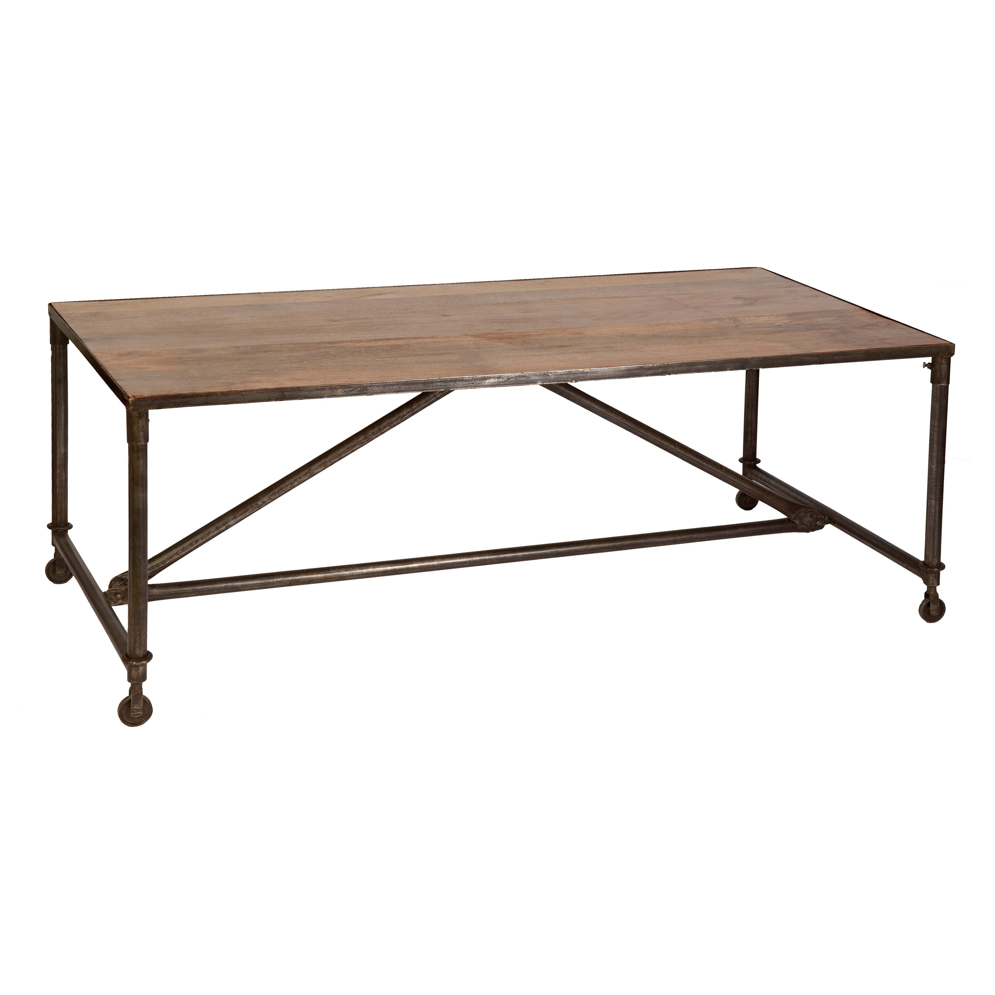 Industrial Metal Base Dining Table Dining Tables At Hayneedle