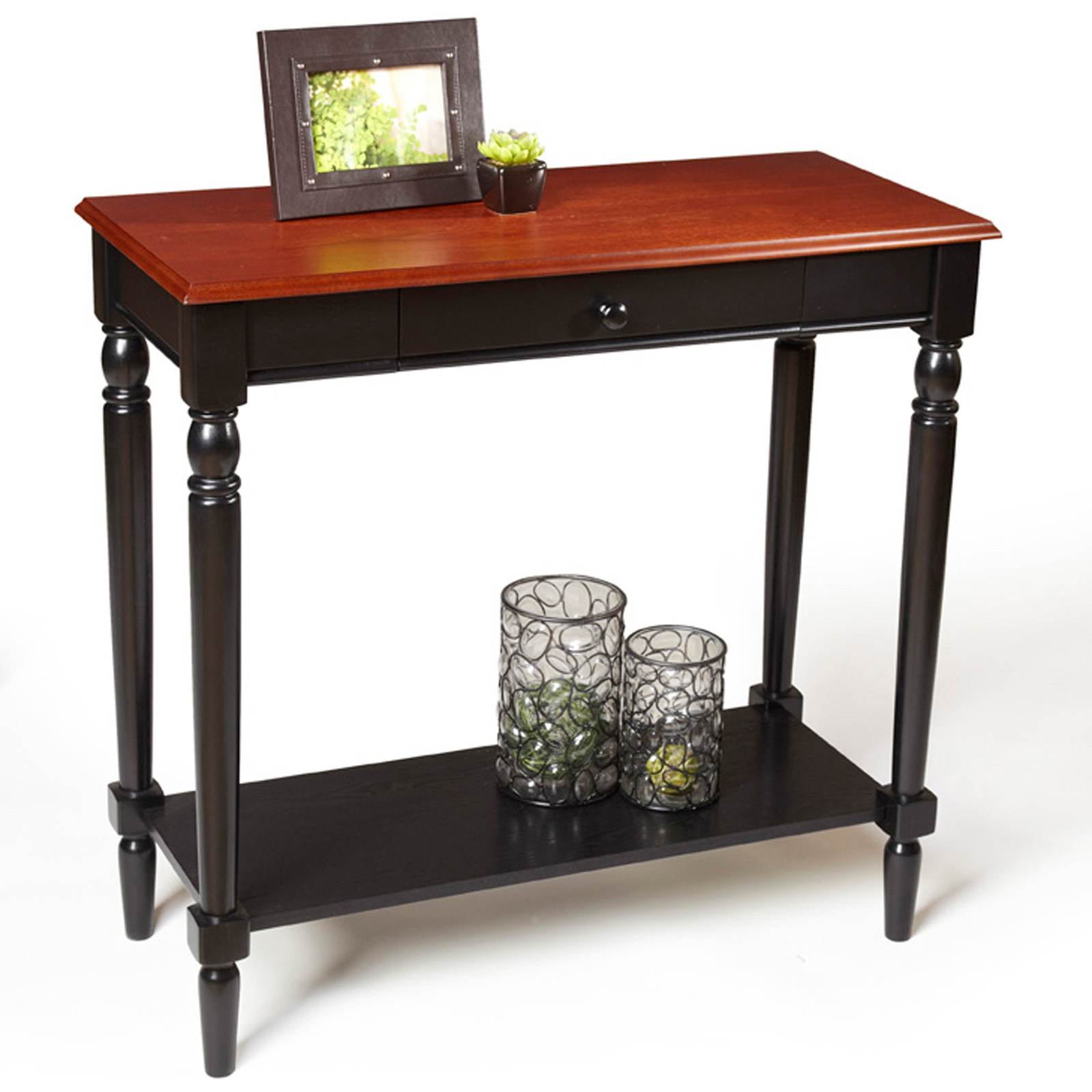 Foyer Table With Drawers : Convenience concepts french country foyer table with