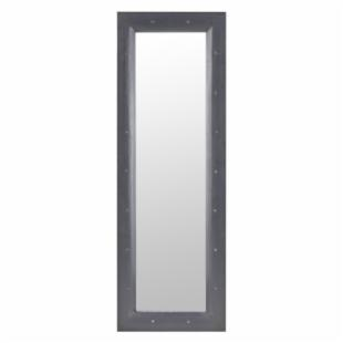 Hilton Distressed Silver Metal Full Length Wall / Leaning Floor Mirror - 15W x 45H