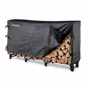 Landmann 8 ft. Heavy Duty Firewood Rack with Cover