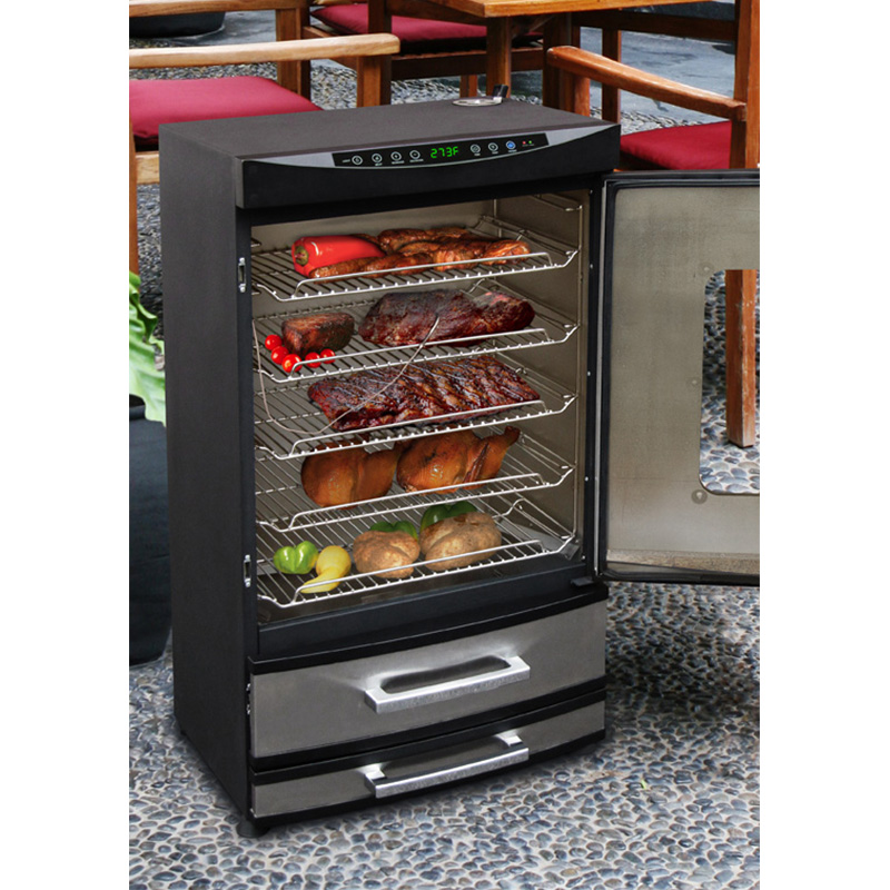 Landmann 40 in. Stainless Steel Electric Smoker   BBQ Smokers