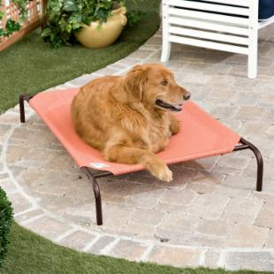 Coolaroo Deluxe Dog Bed - Terra Cotta
