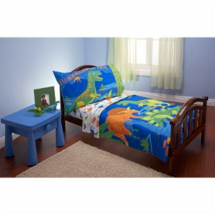 Everything For Kids Dinosaurs 4 pc Toddler Bedding Set