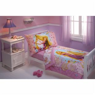 Disney Rapunzel 4 pc Toddler Bedding Set