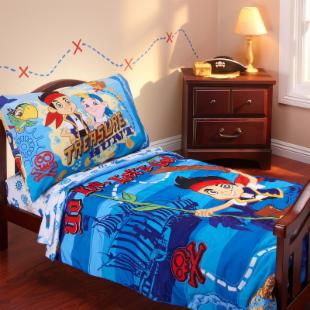 Disney Jake &amp; the Neverland Pirates 4 pc Toddler Bedding Set