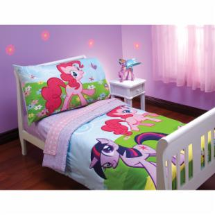 My Little Pony 4 pc Toddler Bedding Set