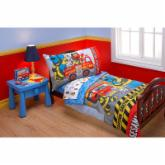 Sesame Street Fire Dept 4 pc Toddler Bedding Set