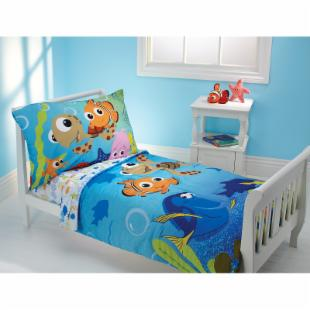 Disney Nemo and Friends 4 pc Toddler Bedding Set