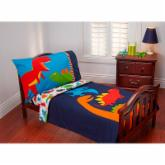 Carters Prehistoric Pals 4 pc Toddler Bedding Set
