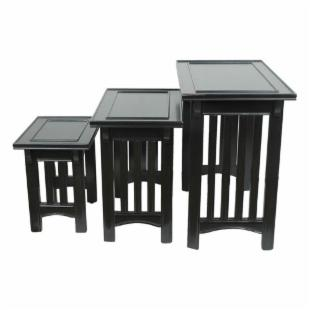 Nested Mission Tables - Black - Set of 3