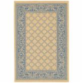  Couristan Recife Garden Lattice Indoor/Outdoor Area Rug - Natural/Blue