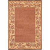  Couristan Recife Island Retreat Indoor/Outdoor Area Rug - Terra Cotta/Natural