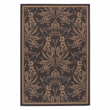  Couristan Recife Garden Cottage Indoor/Outdoor Area Rug - Black/Cocoa