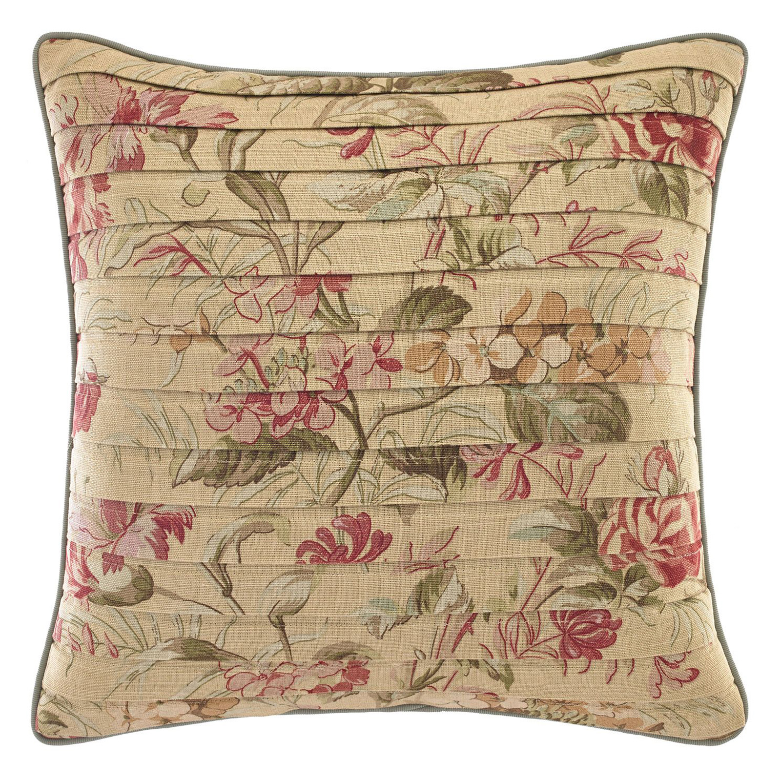 Croscill Cottage Rose Square Throw Pillow Decorative